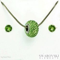 PJ Swarovski Elements szett 3 - Zöld