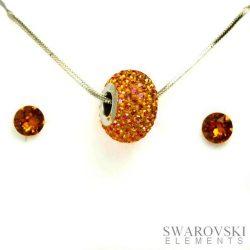 PJ Swarovski Elements szett 4 - Narancssárga