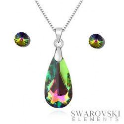 PJ Swarovski Elements szett 6 - Zöld