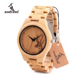 Bobo Bird B-E04 szarvas mintás fa női óra