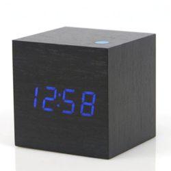 Ledes fakocka alakú ébresztőóra - Fekete kék